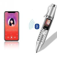Handwriting Pen Mini Cellphone Flashlight Tiny Screen GSM Dual SIM Camera Flashlight Bluetooth Dialer Mobile Phone WithRecording