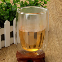High Quality 250ml Double Layer Glass Cup Heat Resistant Coffee Milk Tea Juice Milk Beer Mugs