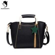 HANSOMFY font b Women b font Bags PU font b Leather b font Shoulder Bags Zipper