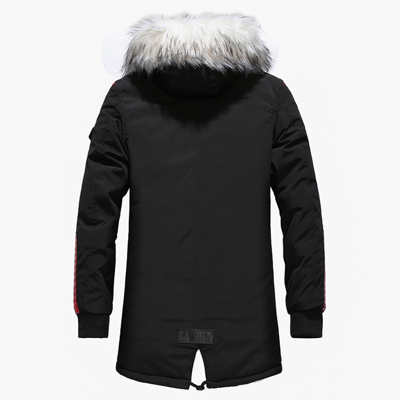 Aolamegs Fur Collar Winter Jacket Men Patchwork Thick Hooded Down Jacket Men Parkas Fashion Windproof Coat Mens Streetwear (5)