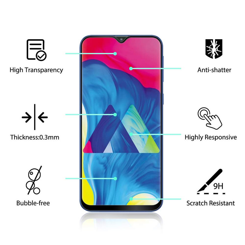Image 2 - 9D Full Glue Samsun A50 Glass For Samsung Galaxy A70 A40 A30 A50 Protective Glass On The Galax A 50 30 40 70 50A 30A 70A Film-in Phone Screen Protectors from Cellphones & Telecommunications