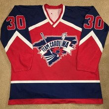 2f6d5857c86 BONJEAN USA Team Carolina Hockey Jersey Embroidery Stitched Customize any  number and