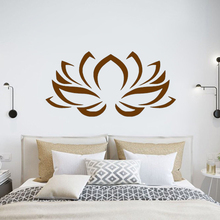 Lotus Flower Wall Stickers Bohemian Decor Yoga Studio ornament Bedroom removeable DIY vinyl decals Boho sticker G261