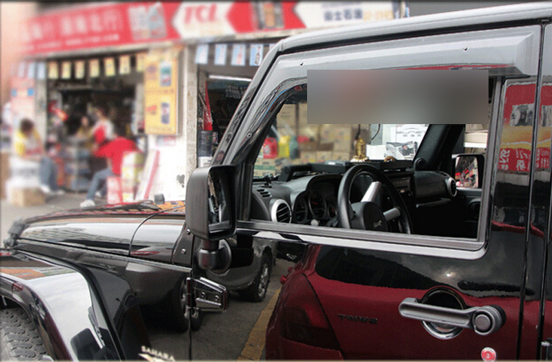 2 Doors Window Visor Deflector Shield For Jeep Wrangler Rubicon JK 2007-2015 2015 2017 car wind deflector awnings shelters for hilux vigo revo black window deflector guard rain shield fit for hilux revo
