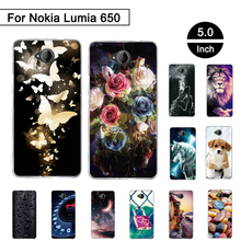 Painted Case For Nokia Microsoft Lumia 650 5.0 inch Back Phone Silicon Cover For Nokia Microsoft Lumia 650 Cases Cover Shell Bag