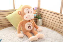 big lovely plush yellow monkey toy creative ribbon bow monkey doll gift about 85cm