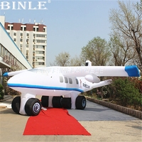 Customized outdoor promotion 10mLong large inflatable airplane aeroplane model for advertising