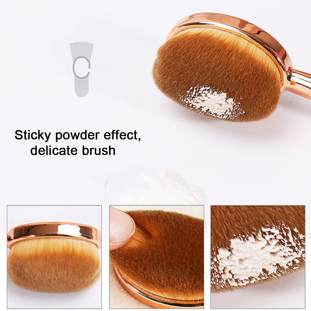 MAANGE 1pc Rose Gold Toothbrush Oval Brushes Foundation Brush Pincel Pinceis De Maquiagem Profissional Kit Pincel Makeup Brush image