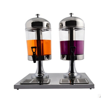 Double Head Milk Tea Juice Dispenser 8Liter Buffet Drink Machines Cold Drinks Machine
