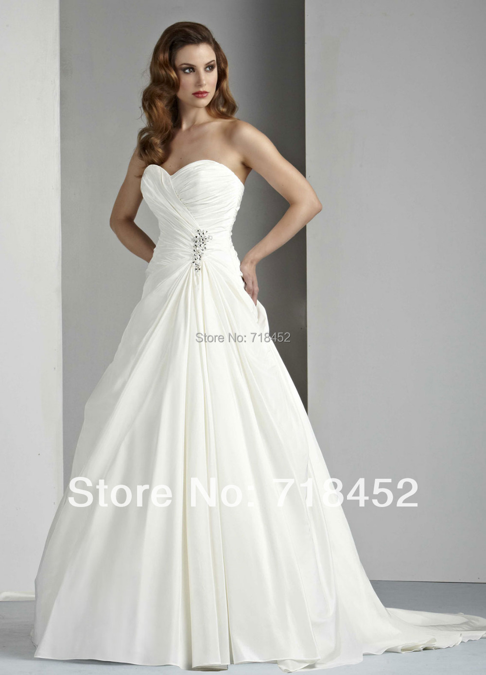 2014 mature bride wedding dresses a line bridal gown cheap price vestido de noiva taffeta sweetheart