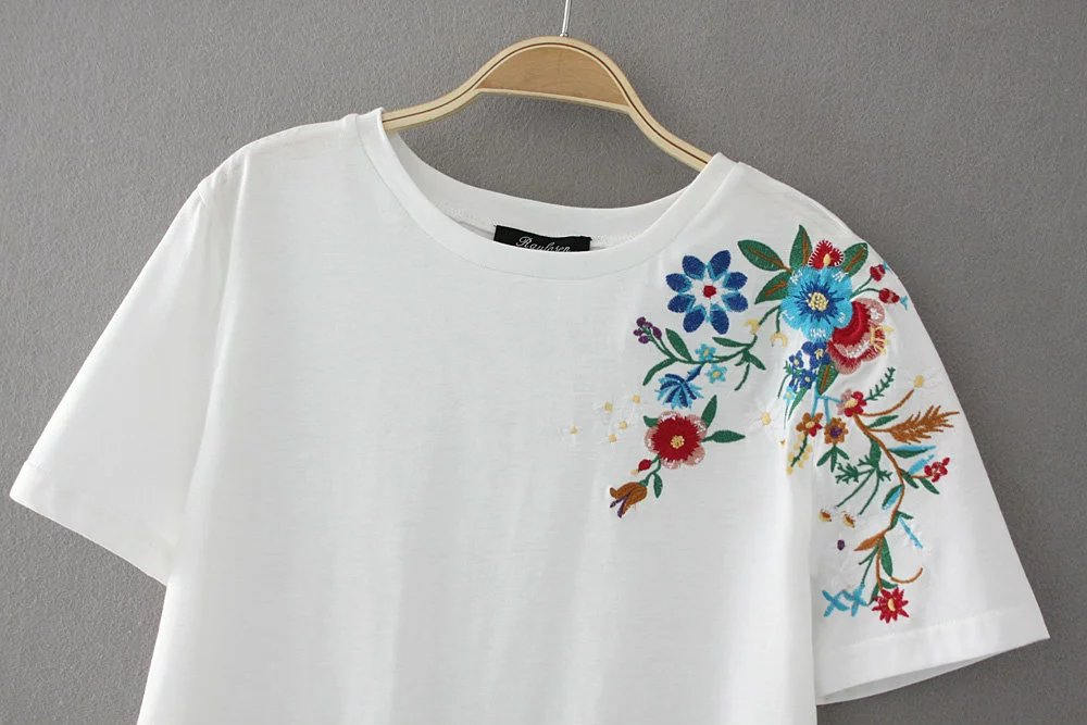 HTB1SuISQXXXXXaOapXXq6xXFXXX0 - Women Cotton Slim Floral Tshirts Casual Street Daily
