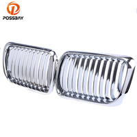 POSSBAY Chrome Silver Front Center Kidney Grill Grilles for BMW 3 Series E36 M3 Coupe 316g/316i/318i/325is 1996 1998 facelift
