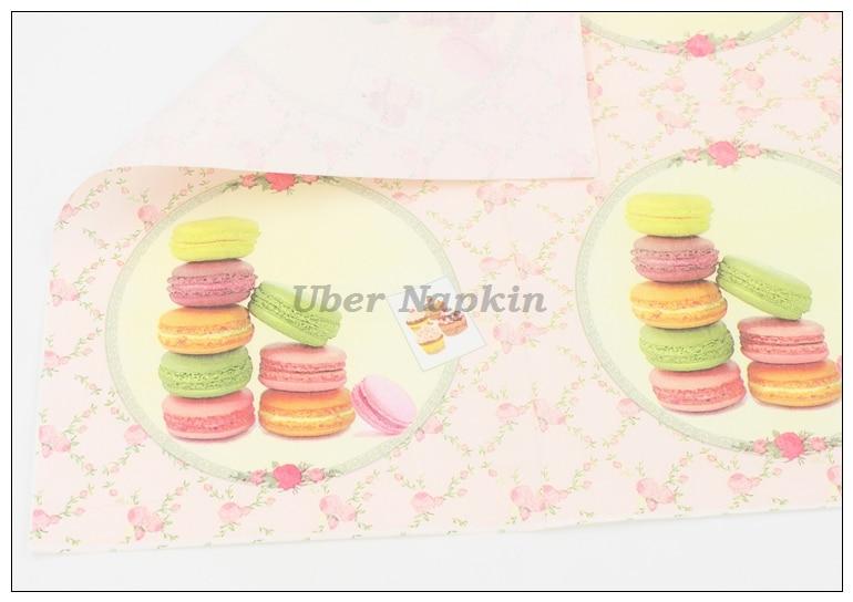 [RainLoong] Macaroon Cakes Papierservietten Festliche & Party - Partyartikel und Dekoration - Foto 5
