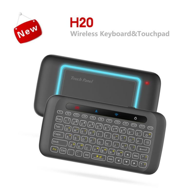 Small Size H20 Mini Wireless Backbit Keyboard IR Remote/ Learning Air Mouse Compatible For Google/ For Android TV Box