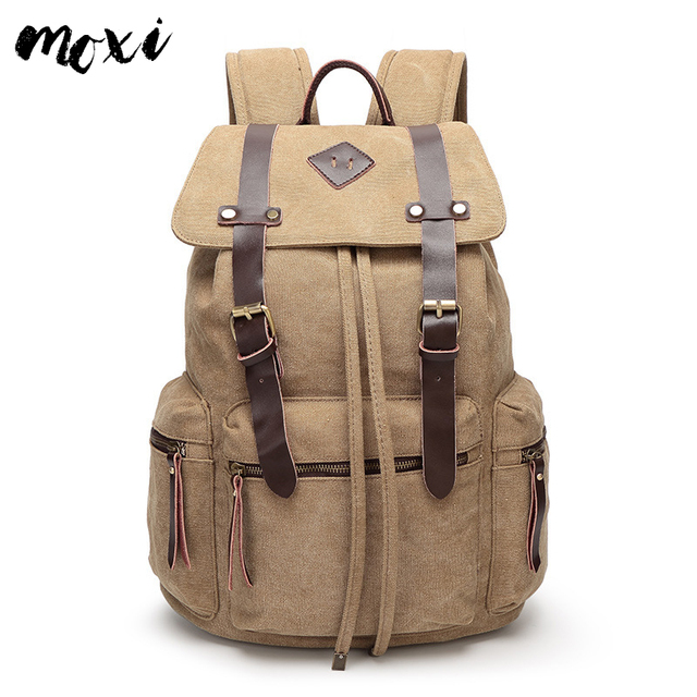 3cbbfd93ed12 Moxi Men Backpack Trendy Retro Laptop Backpack Vintage Color School Bag For  College Students Classic Male Daypack