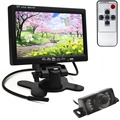 Hot HD 800x480 de 7 Pulgadas Pantalla LCD de visión Trasera de Color View Monitor con HDMI + 7 Luces DEL IR Cámara de Visión Trasera