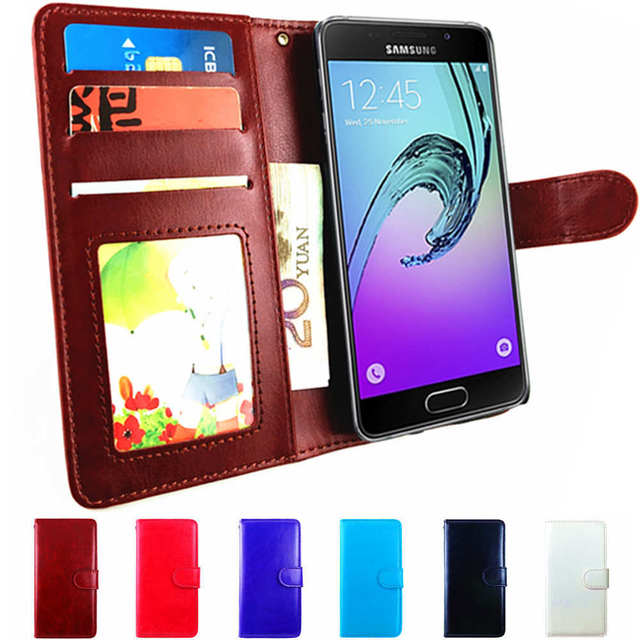 on sale c26aa 816d9 US $3.69 20% OFF|Leather Flip Case For Samsung Galaxy A3 2016 Case Phone  Wallet Coque For Samsung A3 2016 Cover Case Blue A310F SM A310 A 3 6 A36-in  ...