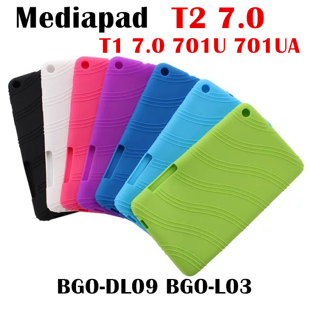For Huawei Mediapad T2 7.0 BGO-DL09 BGO-L03 Tablet Case Soft Silicone TPU Back Cover Case T1 Plus 7.0 T1-701U T1-701UA