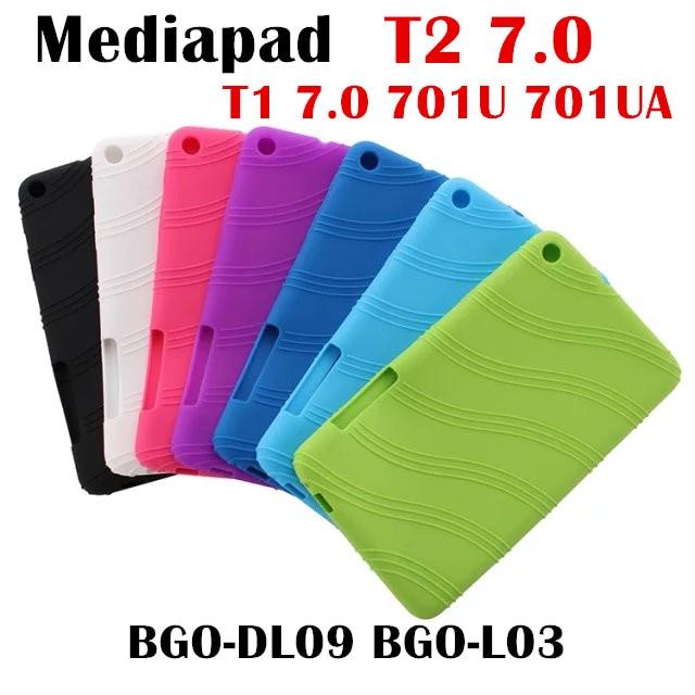 For Huawei MediaPad T2 7.0 BGO-DL09 BGO-L03 tablet case Soft Silicone TPU Back Cover Case T1 plus 7.0 T1-701U T1-701UA