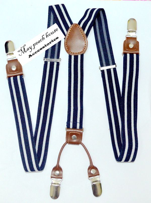 Alloy 4 Clips Leather Suspenders for Men Vintage Fashion Casual Suspenders Commercial Western-style Mans Braces Trousers Straps