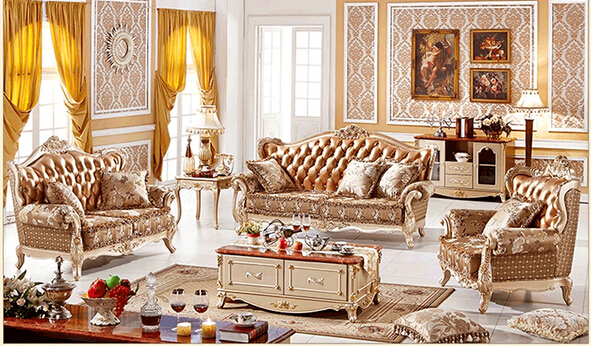 US $3350.0 |Classic european furniture antique living room furniture-in  Living Room Sofas from Furniture on AliExpress