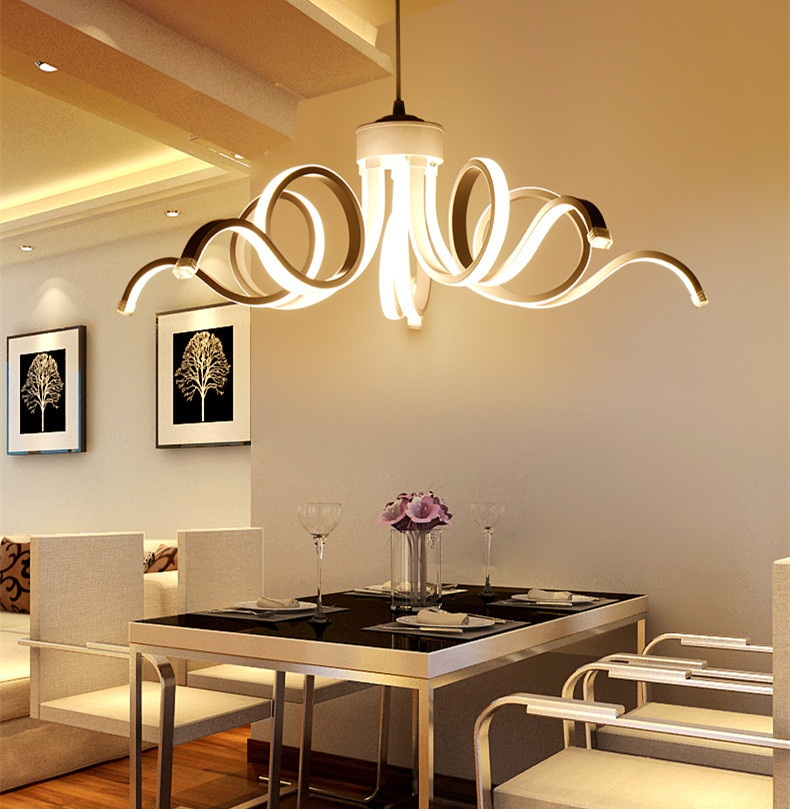 Scandinavian Style Led Acrylic Chandelier Dining Room
