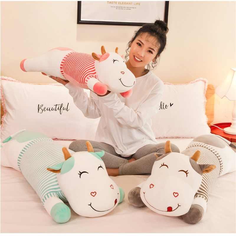 Kawaii Dos Desenhos Animados do leite de vaca Brinquedos de Pelúcia Boneca Animal de Pelúcia Travesseiro macio Almofada Travesseiro Casa Decoração Dia Dos Namorados presentes de Natal