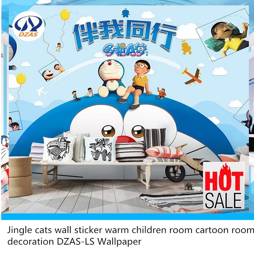Jingle cats wall sticker warm children room cartoon room decoration DZAS-LS Wallpaper sweet cartoon vehicle and letters pattern diy wall sticker for children s room