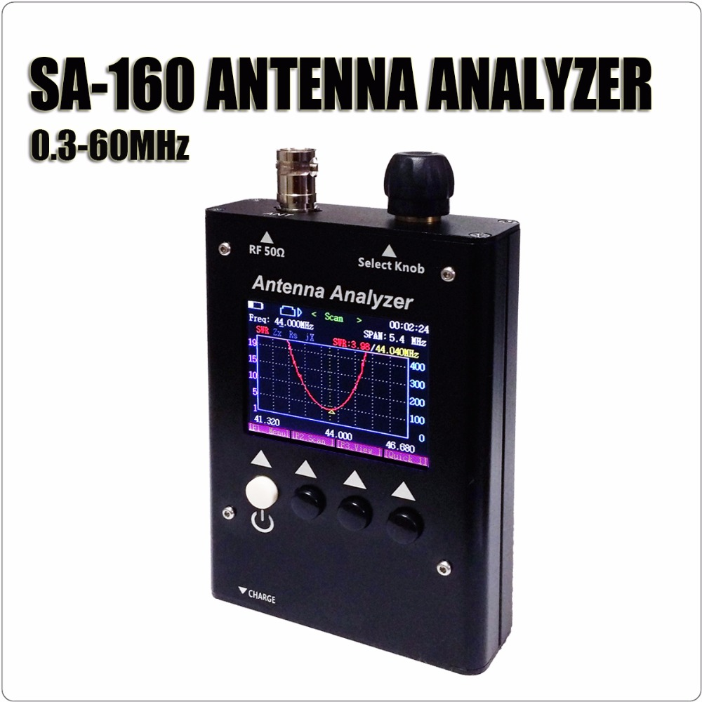 SURECOM SA-160 0.5-60MHz Color Graphic ANTENNA ANALYZER SA160