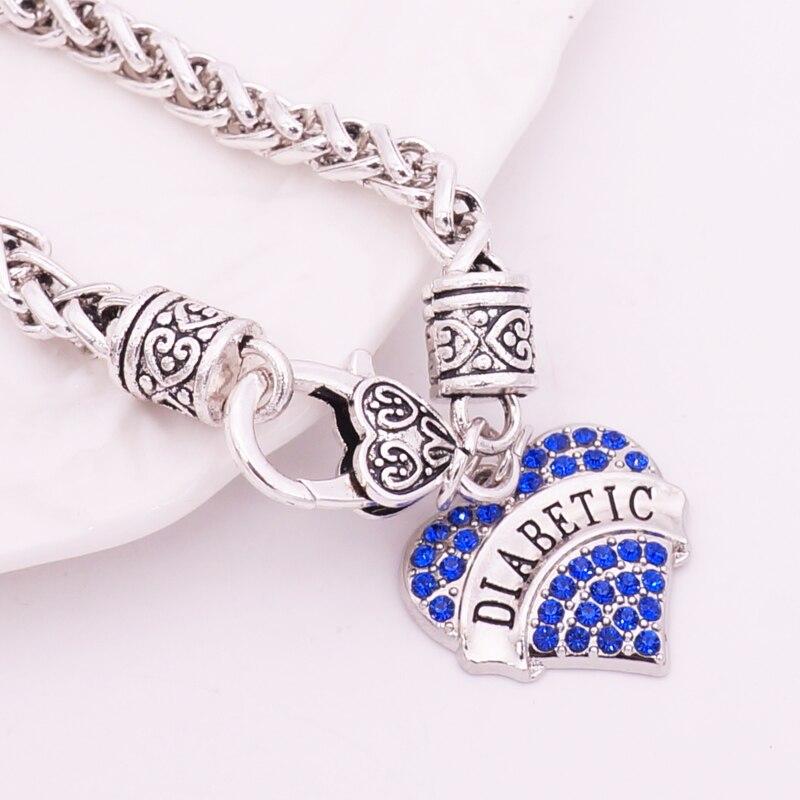 Diy Charm Bracelets: DIABETIC Bracelets DIY Crystal Heart Charm Bracelet