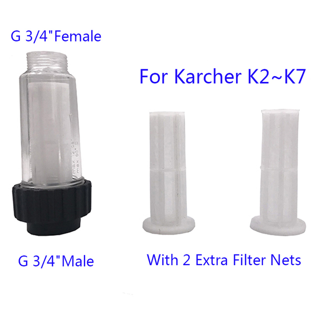 "Filter G 3/4"" Fitting Medium Compatible ,With two filter cores,for Karcher K2 K3 K4 K5 K6 K7 Series Pressure Washers"