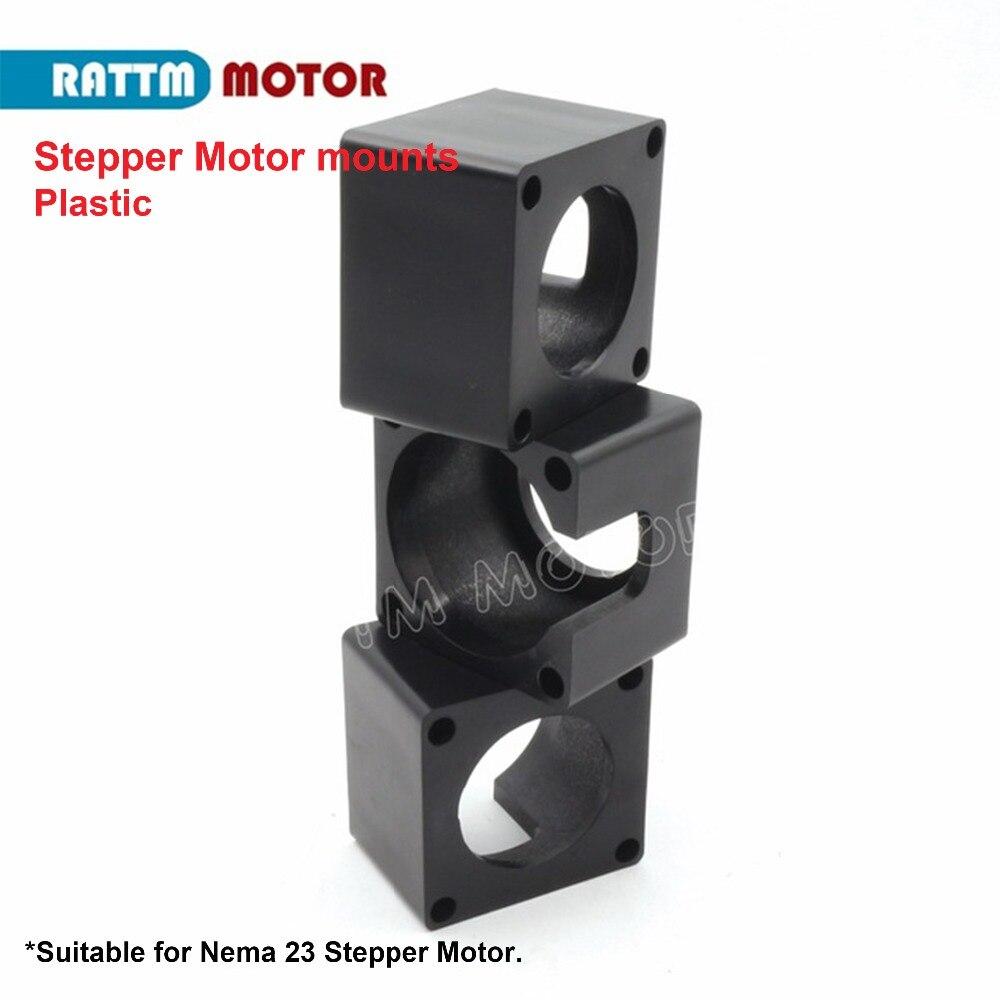 3 PCS Plástico 23 Nema Motor De Passo monta suporte do motor DIY máquina de gravura partes