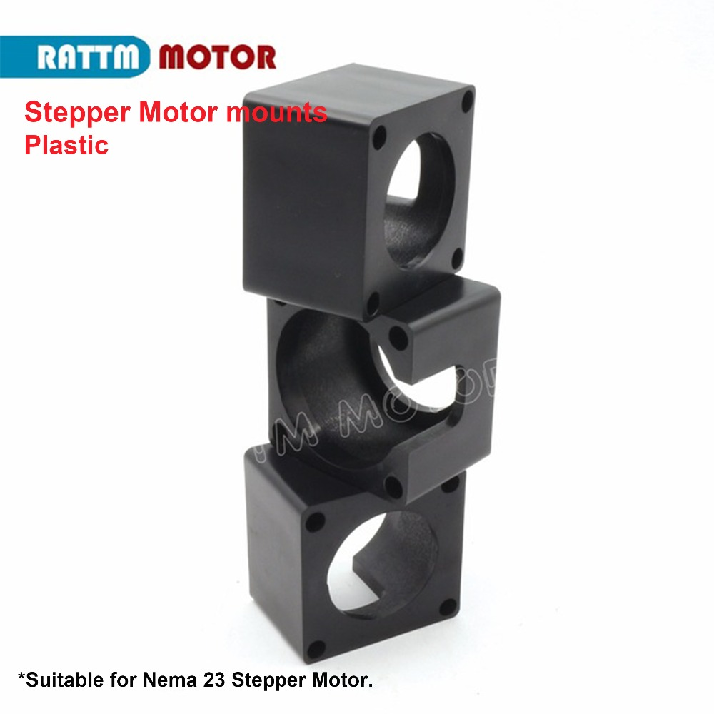 1Pcs Nema23 Stepper Motor Bracket Mount Steel Mounting Support base Clamp 57 stepping motor Holder with screws for nema 23 CNC Parts CNC Router Milling Engraving Machine fixed seat Changzhou Rattm Motor Co Ltd