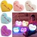 Christmas Gift LED Luminous Stars LED Light Pillow Plush Pillow Cushion Party Birthday Gift I love you