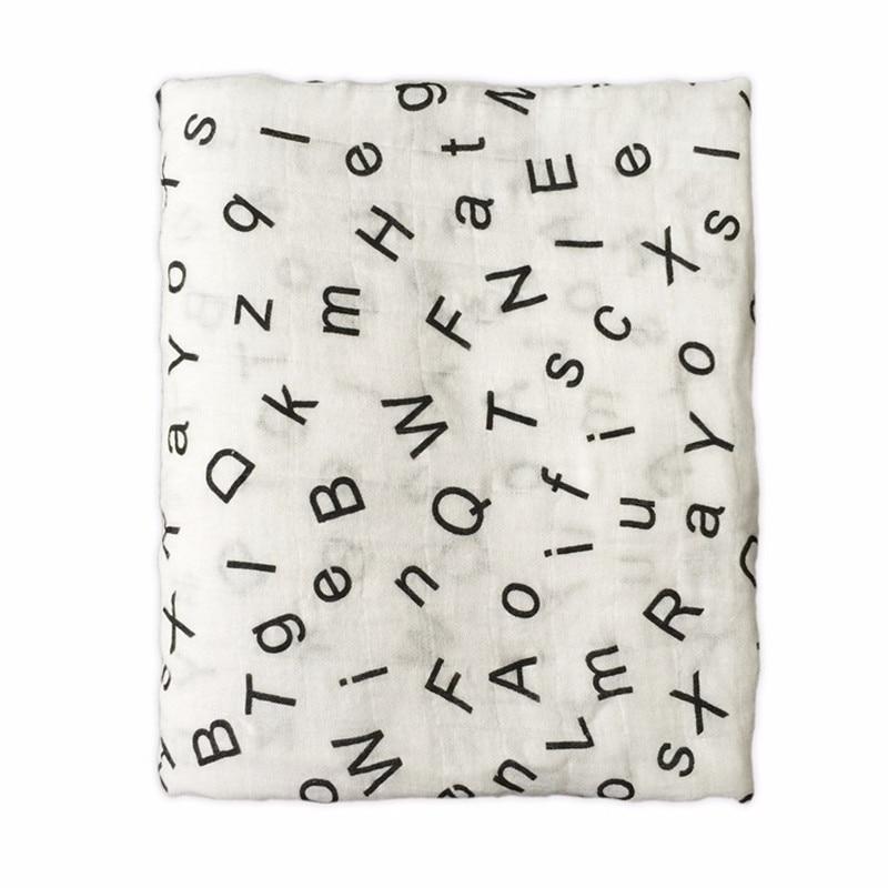 100/% Bamboo fiber baby Newborn Swaddle Blanket Infant Single layer baby towel