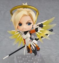 Anime Game OW Nendoroid 790 Cute Kawaii Mercy 10cm Action Figure Toys
