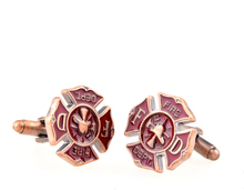 Cufflinks Fire Dept cufflinks font b Men s b font Jewelry Bronze Fancy cufflink for font