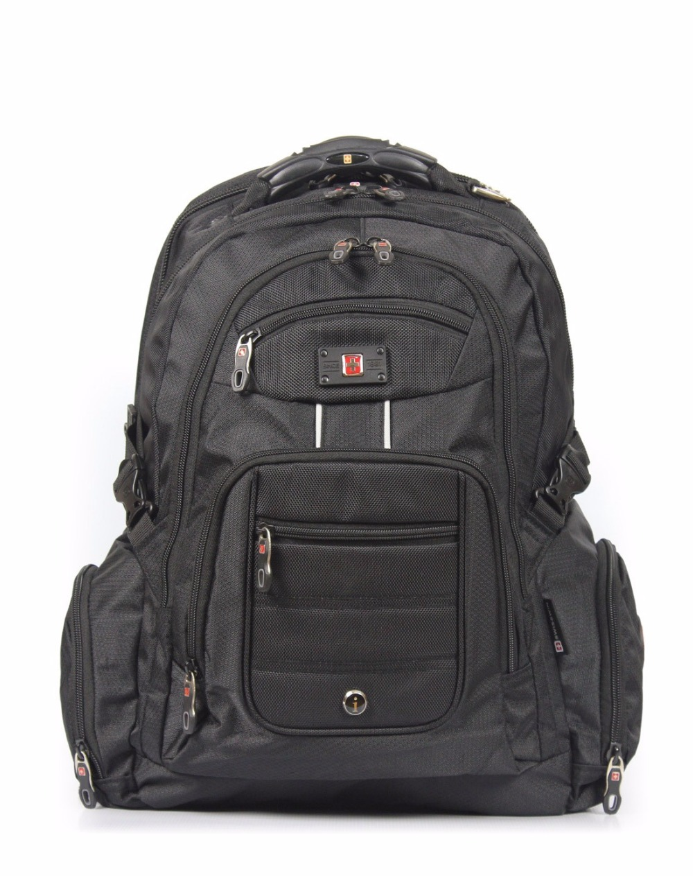 Suissewin 17 Laptop Bag Men's Laptop Backpack Waterproof Nylon Backpack For Business Travel Large Capacity Backpack mochila coolbell 15 17 backpack men laptop rucksack nylon school bag large capacity unisex women for business travel waterproof ff