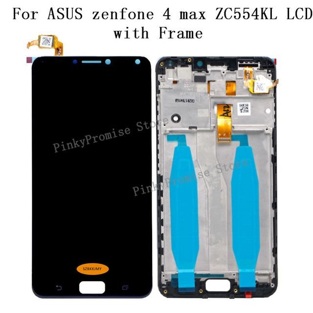 قطع غيار لهاتف ASUS Zenfone 4 Max ZC554KL بشاشة مقاس 5.5 بوصة تعمل باللمس مجموعة رقمية Zenfone 4 MAX قطع غيار لهاتف ASUS ZC554KL LCD