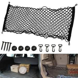 Hot New Universal coffre de voiture | Intérieur coffre de cargaison rangement de la voiture, sac de rangement en filet, poches de maille porte-bagages hayon 110x50cm BX