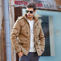 2016 New Men Jackets Classic  Winter Jacket Men Warm Comfortable Cotton Slim Coat 3 Colors for Choice-Free Shipping