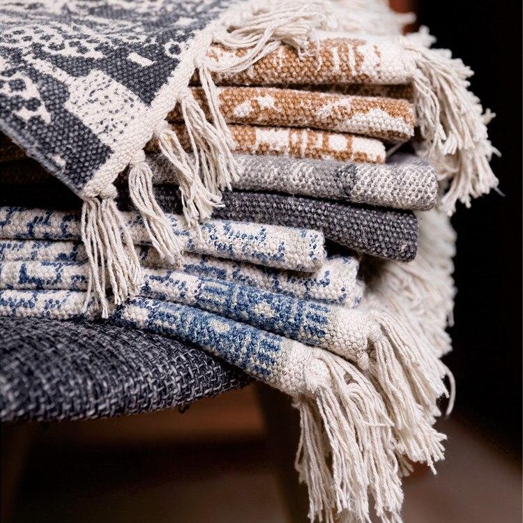 Mode moderne inde tapis pur coton tissé à la main pour salon chambre chambre thé Table petit tapis 120*170 cm chevet Kilim tapis