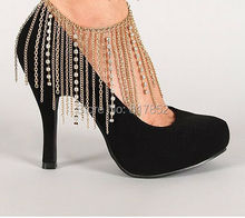 FREE SHIPPING New Style L60 Women Fashion Gold Chains Ankle Chains Gold Rhinestone Chains Anklets font