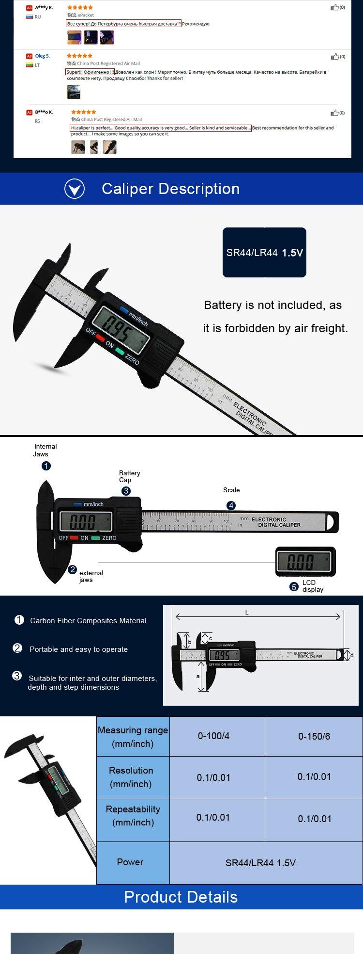Nuevo Calibrador Digital De Plstico Shahe Vernier 0mm Ic Cpu Msm8917 2aa Paquete 1 Electrnico