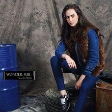 Model Style Muskrat Fur Jean Jacket Fashion Design Beaver Fur Short Coat Removeble Muskrat Fur Waistcoat Beaver Fur Gilet