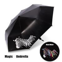 Zebrar Color Change Creative Women Kids Men Fashion Folding Sunny Rainy UV Umbrella Sunshade Parasol Gift