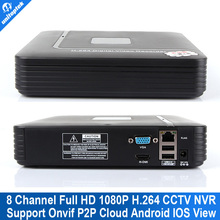 8CH cctv NVR Smart Mini 1U Network Video Recorder HDMI/VGA Output 8 channel 1080P/720P Phone view Onvif NVR P2P Cloud MAX 4TB