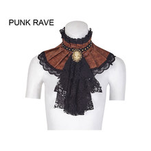 Punk Rave Womens Steampunk Jabot Collar Cravat Tie Black Lace Gothic Aristocrat s225