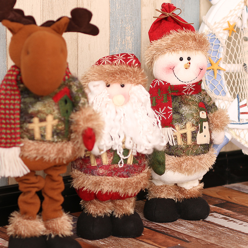 ornaments christmas toys kids baby new year holiday christmas decorations for home reindeer santa claus doll
