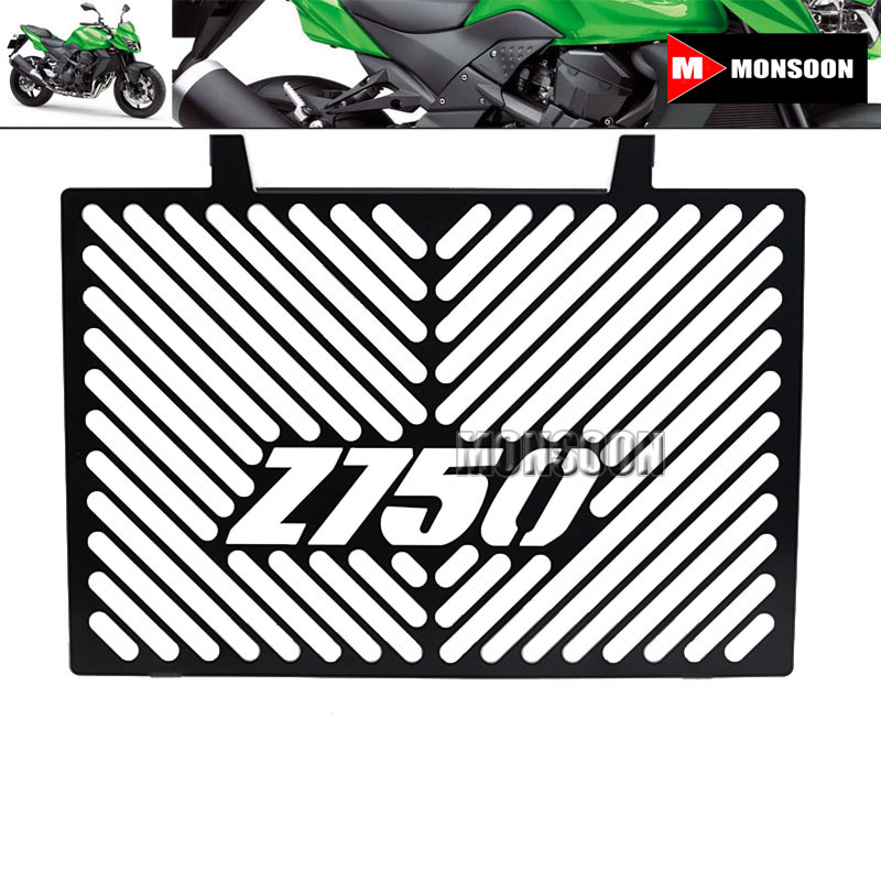 For KAWASAKI Z750 Z 750 2008-2012 2009 2010 2011 Motorcycle Accessories Radiator Grille Guard Cover Black arashi motorcycle radiator grille protective cover grill guard protector for 2008 2009 2010 2011 honda cbr1000rr cbr 1000 rr
